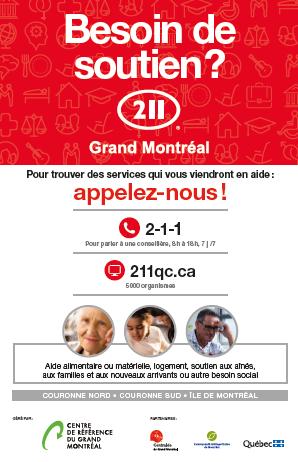 Affiche 211 Grand Montréal 11x17