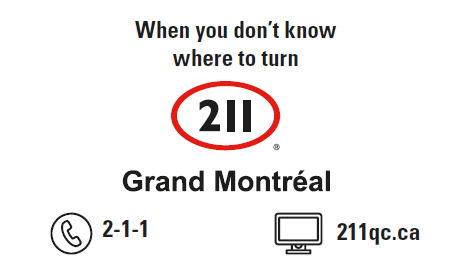 Responder Card - 211 Grand Montréal